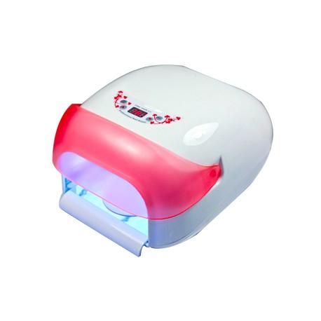 Uv lempa 36w rožinė su oro aušintuvu ir skaitmeniniu ekraniuku