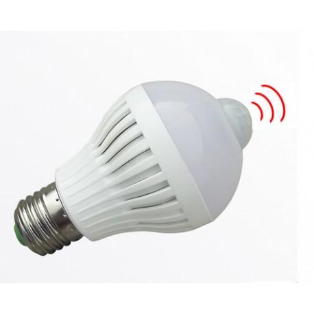 Led lemputė su judesio davikliu E27/9w-720lm/SMD5730