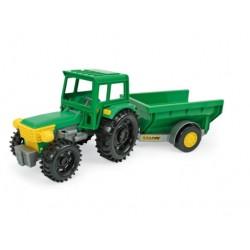 """Žaislinis traktorius su priekaba """"Wader Traktor"""""""