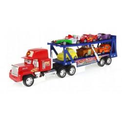 Žaislinis traliukais su mašinomis